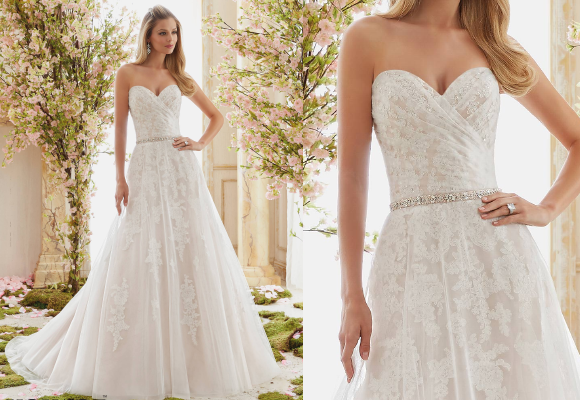 How to choose a suitable wedding dress for your figure for Wedding dress heart shaped neckline